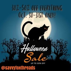 🎃Halloween SALE! Sending out 30-50% off Offers